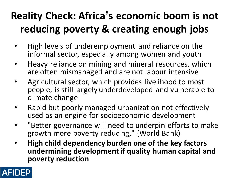 Reality Check: Africa's economic boom is not reducing poverty & creating enough jobs