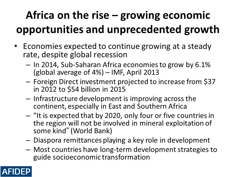 Africa on the rise – growing economic opportunities and unprecedented growth
