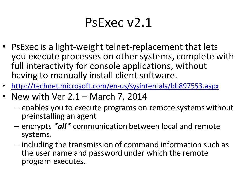PsExec v2.1