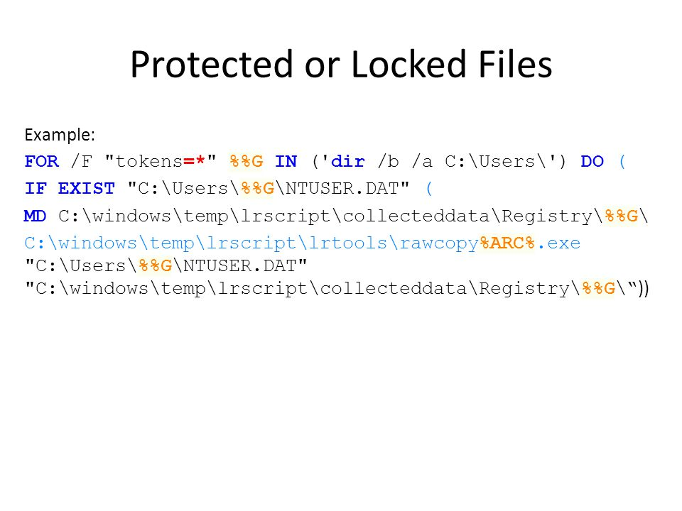 Protected or Locked Files