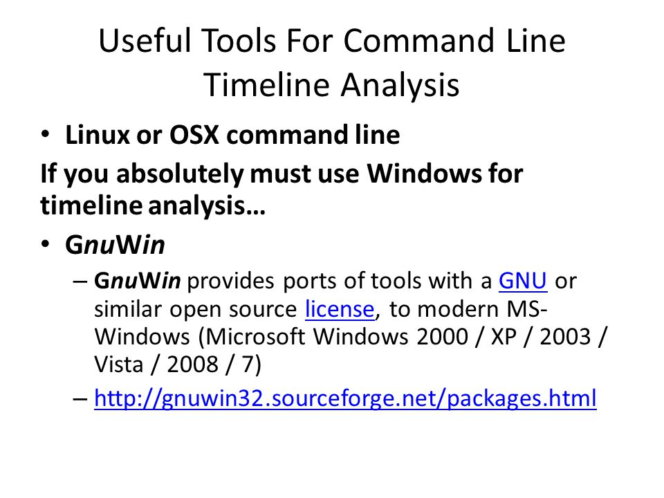 Useful Tools For Command Line Timeline Analysis