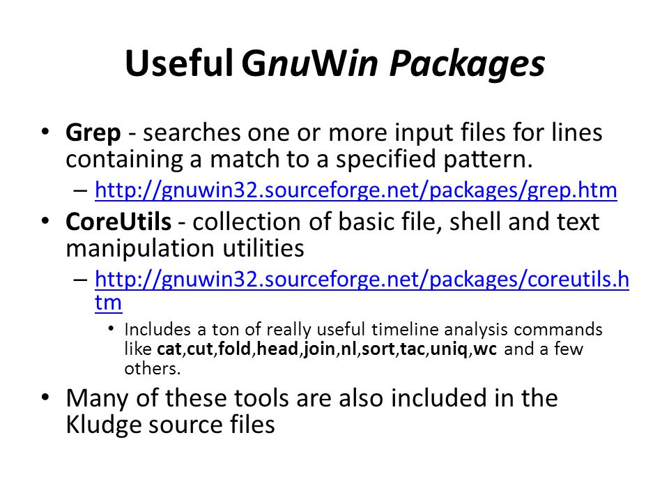 Useful GnuWin Packages