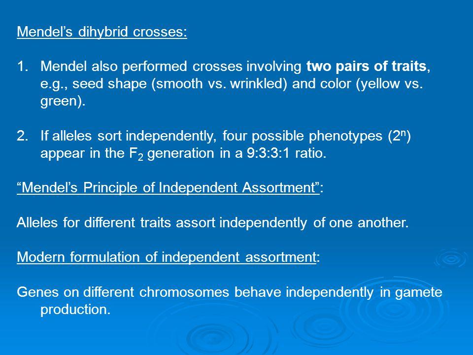 Mendel's dihybrid crosses: