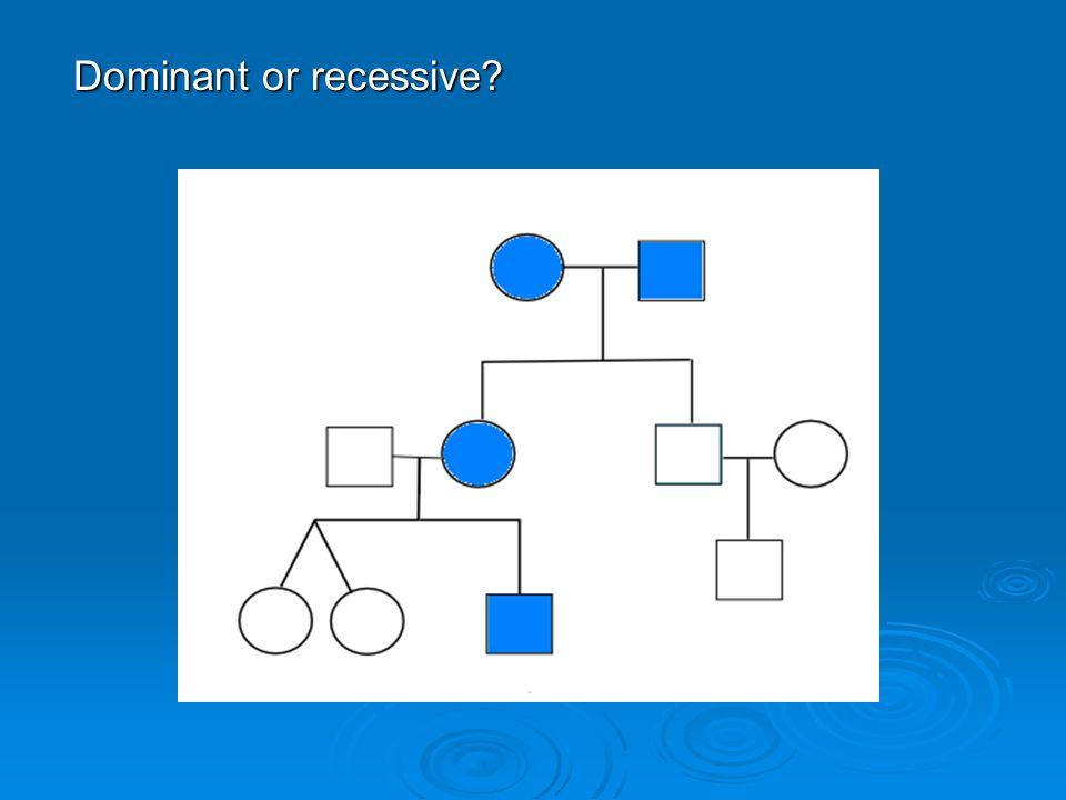 Dominant or recessive