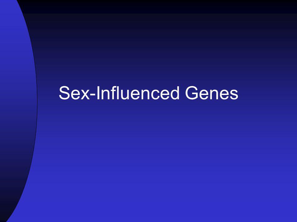 Sex-Influenced Genes
