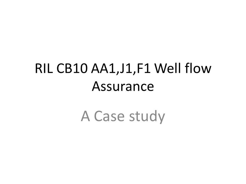 RIL CB10 AA1,J1,F1 Well flow Assurance