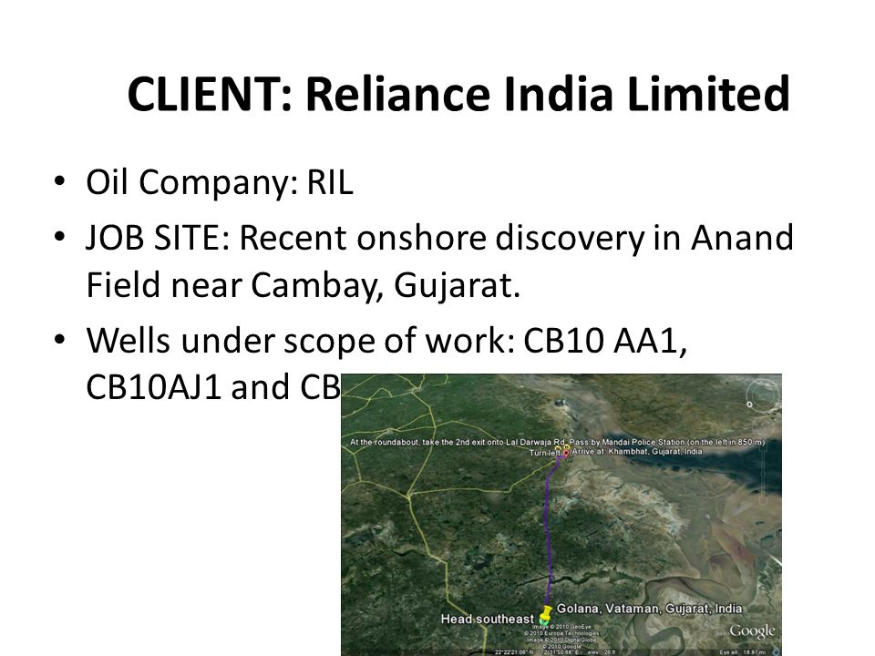 CLIENT: Reliance India Limited
