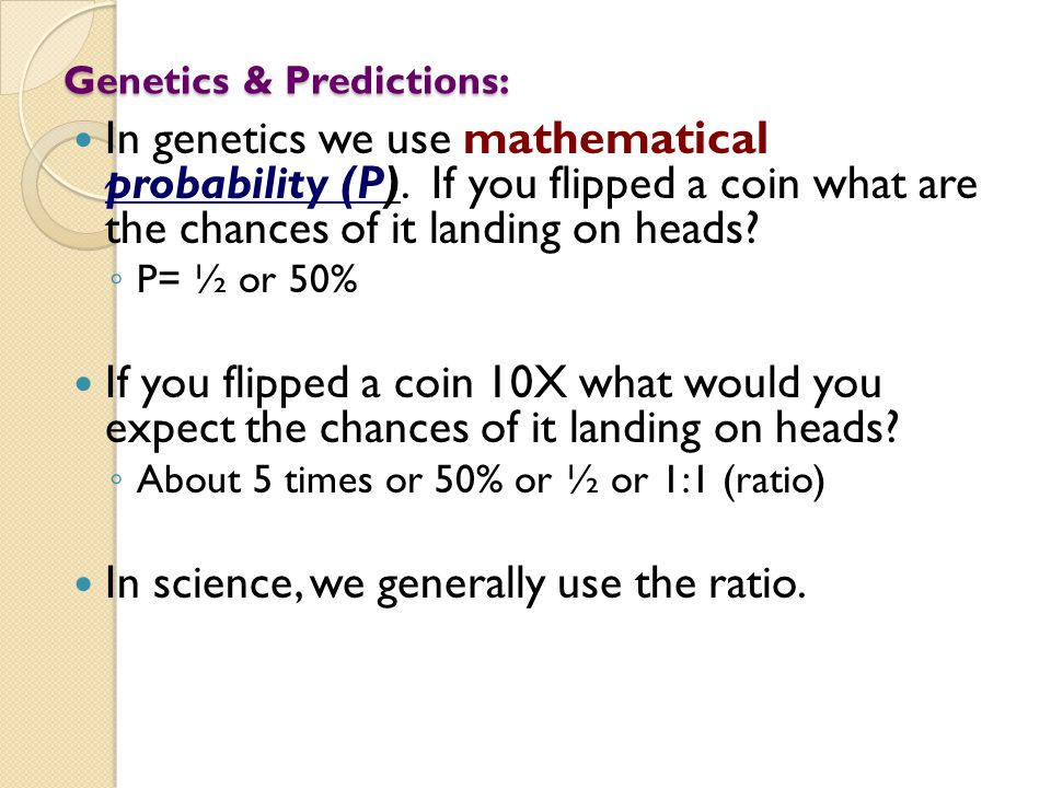 Genetics & Predictions: