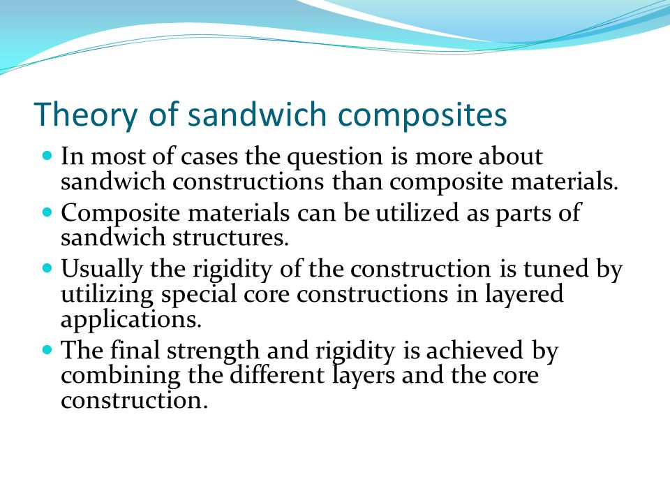 Theory of sandwich composites