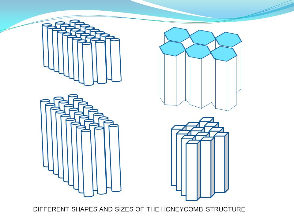 DIFFERENT SHAPES AND SIZES OF THE HONEYCOMB STRUCTURE