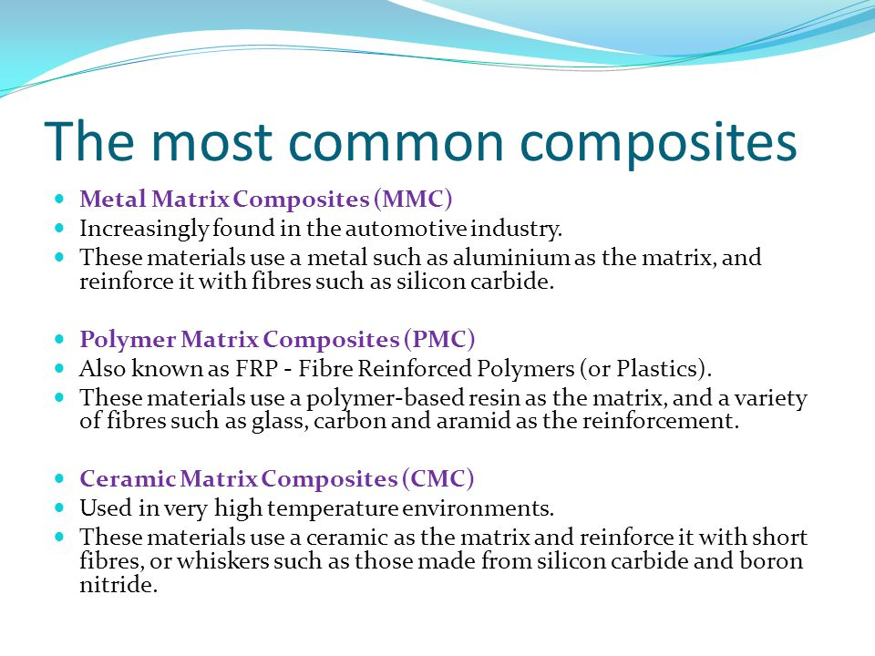 The most common composites