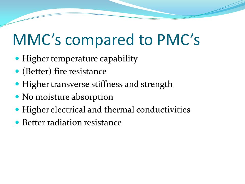 MMC's compared to PMC's