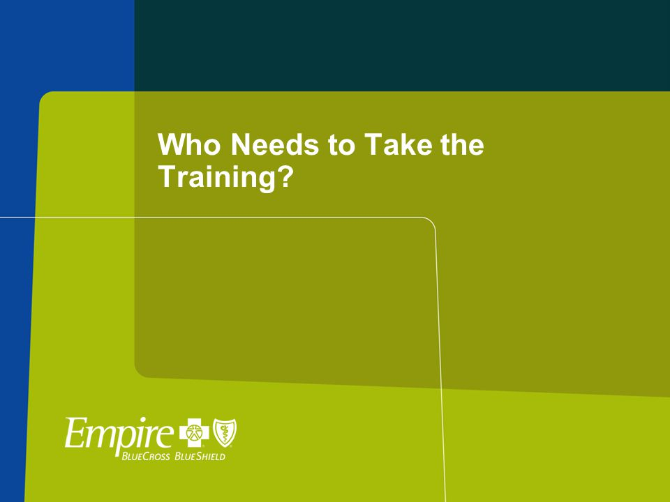 Who Needs to Take the Training