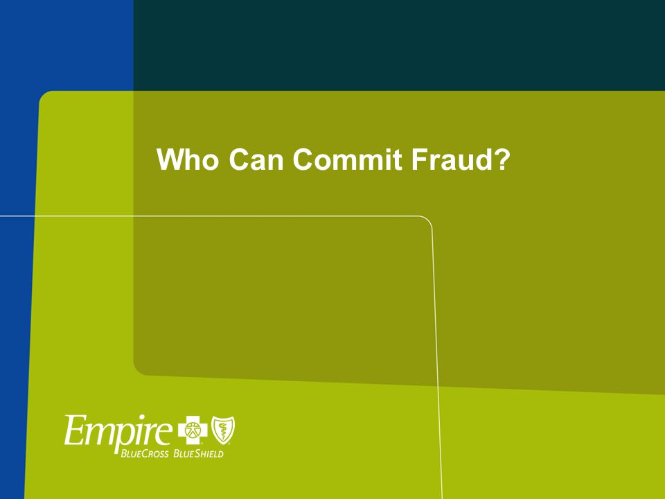 Who Can Commit Fraud