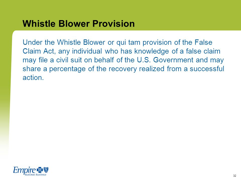 Whistle Blower Provision