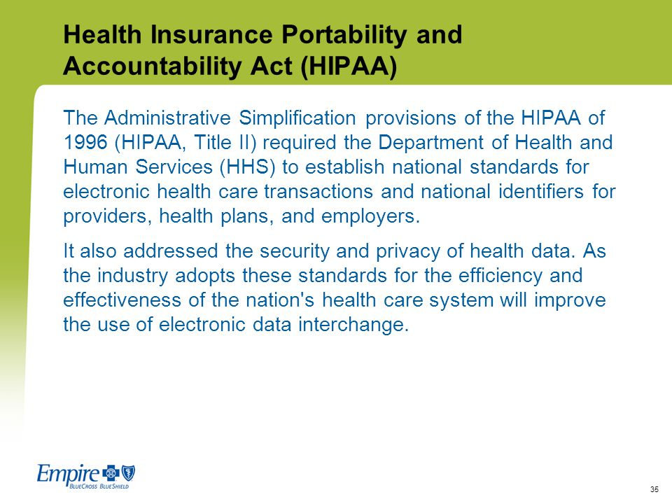 Health Insurance Portability Act Of 1996 Hipaa