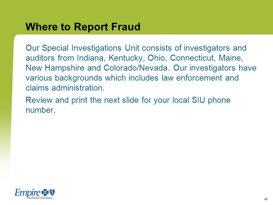 Where to Report Fraud