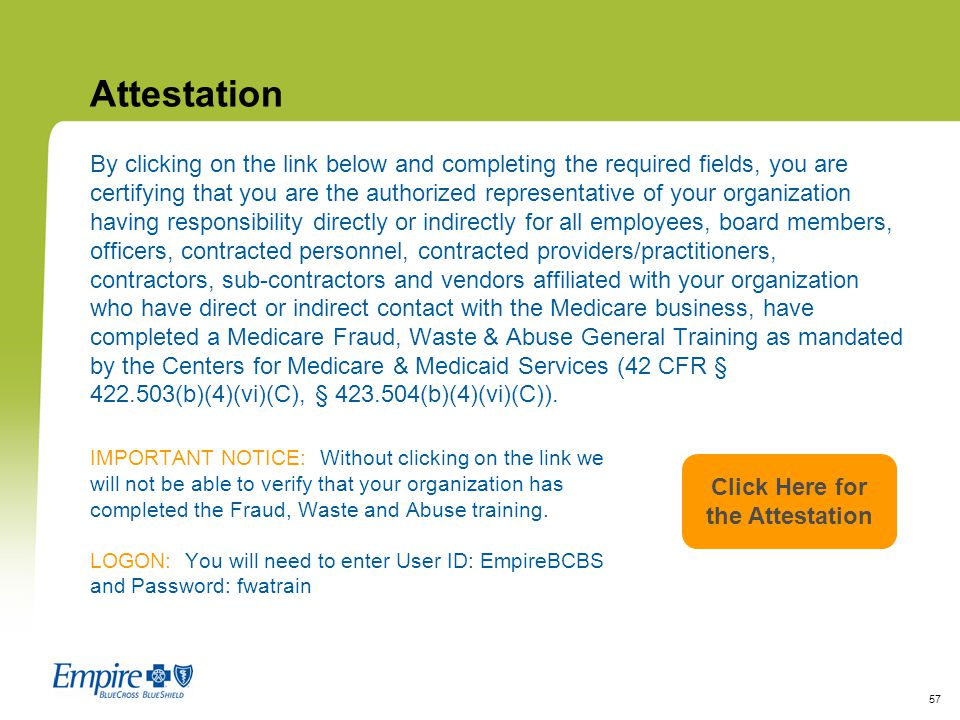 Click Here for the Attestation
