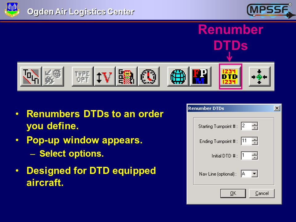 Renumber DTDs Renumbers DTDs to an order you define.