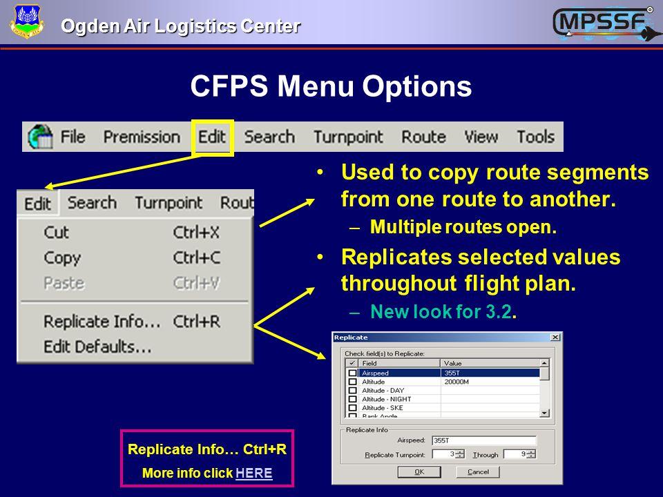 Replicate Info… Ctrl+R