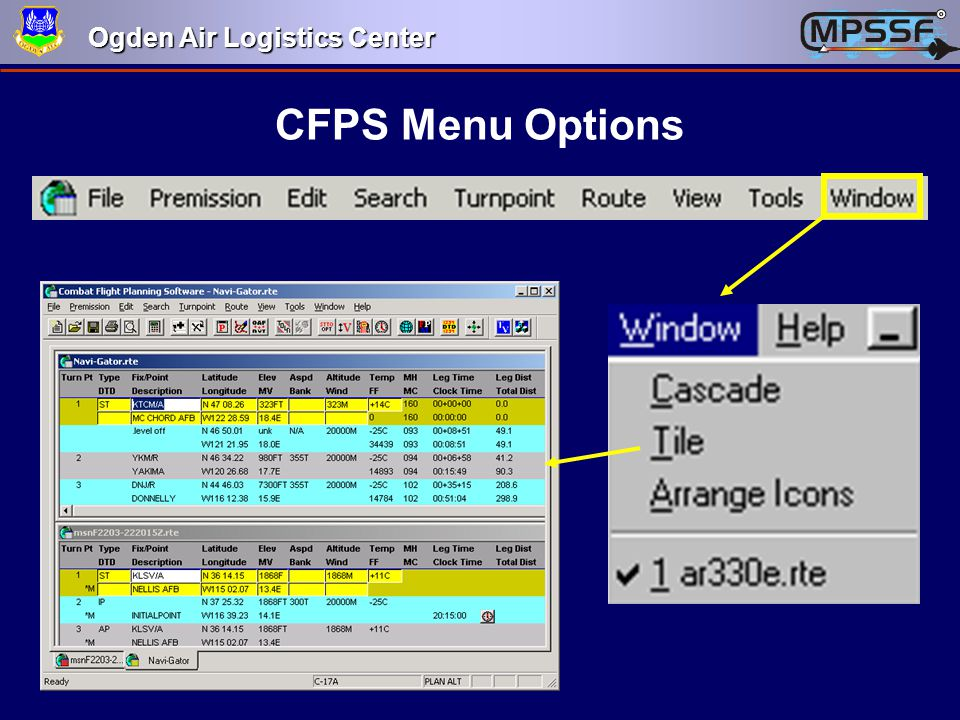 CFPS Menu Options