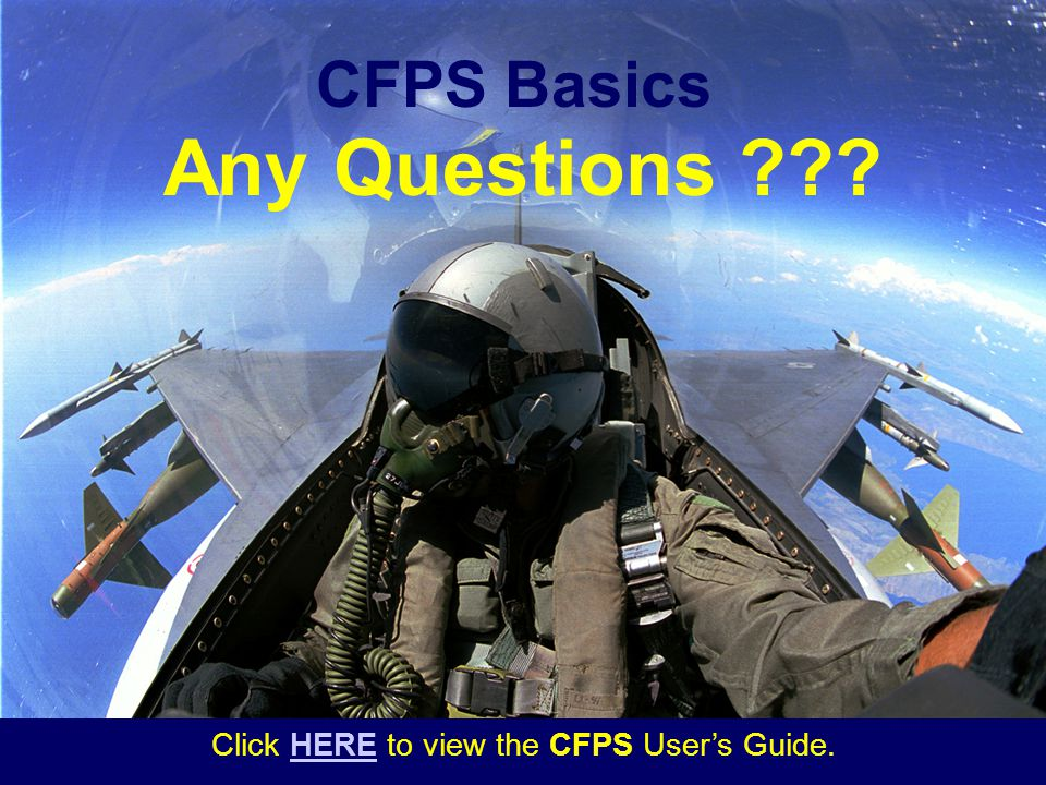 Click HERE to view the CFPS User's Guide.
