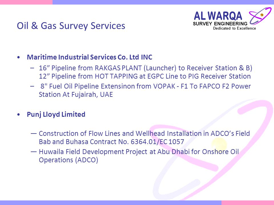 Oil & Gas Survey Services