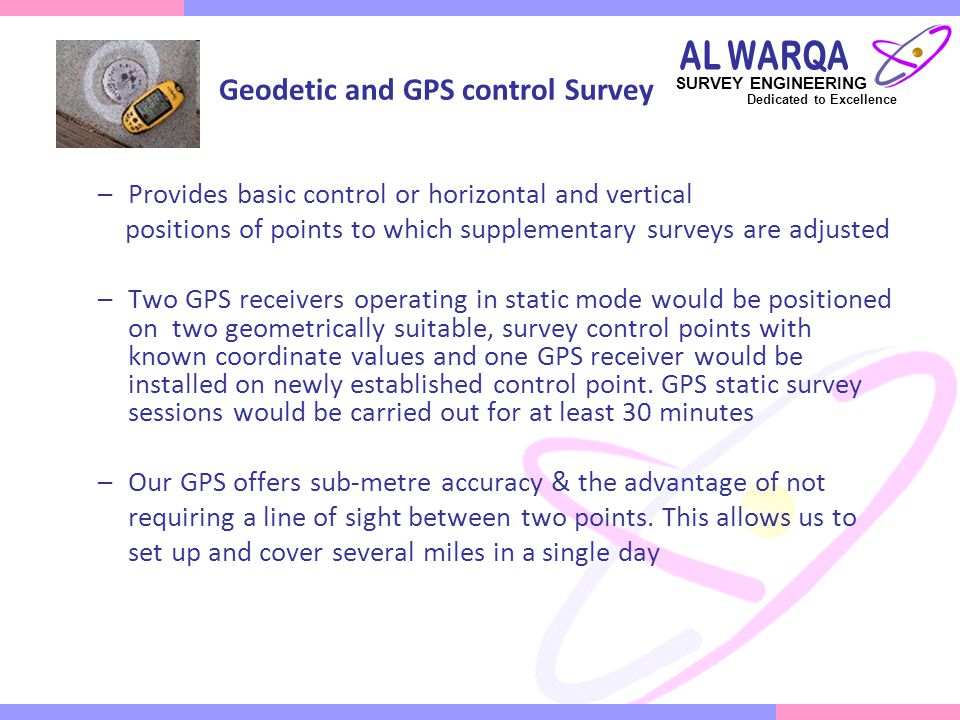 Geodetic and GPS control Survey