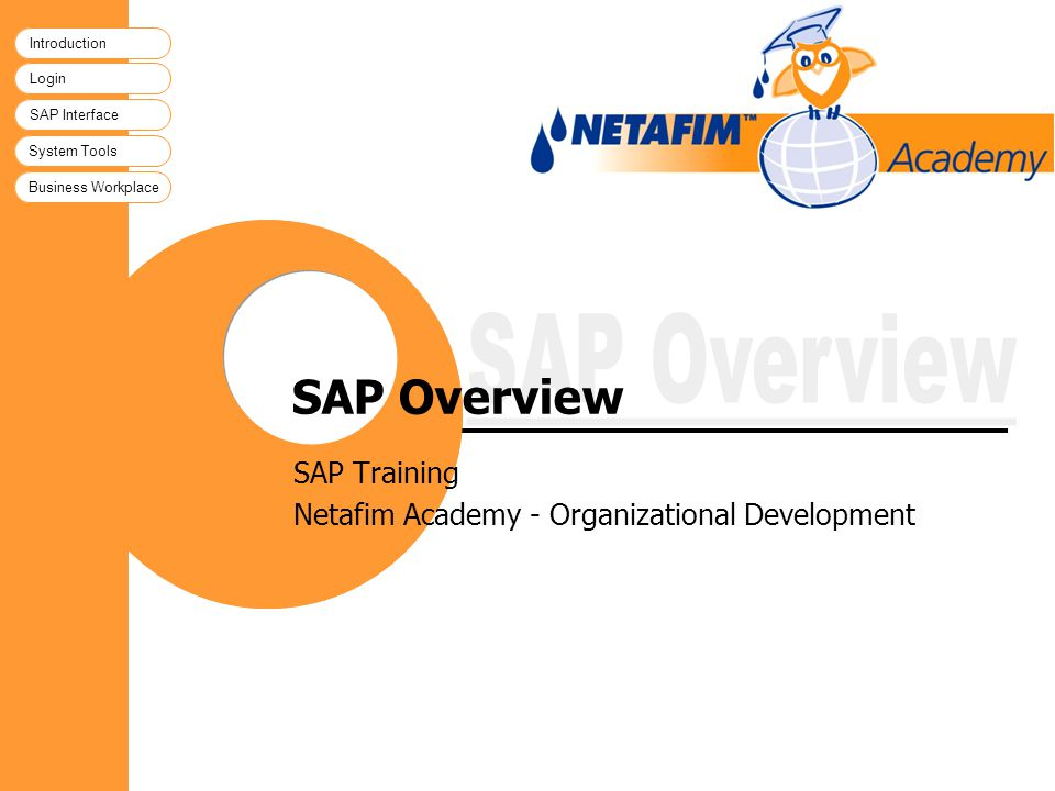 SAP Training Netafim Academy - Organizational Development