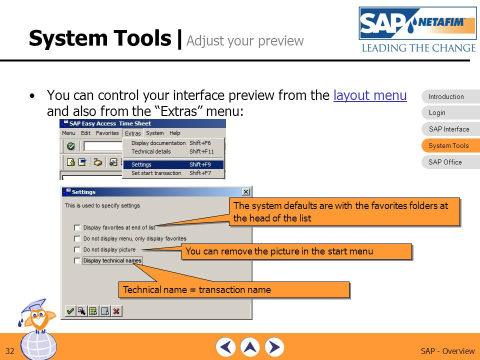 System Tools |Adjust your preview