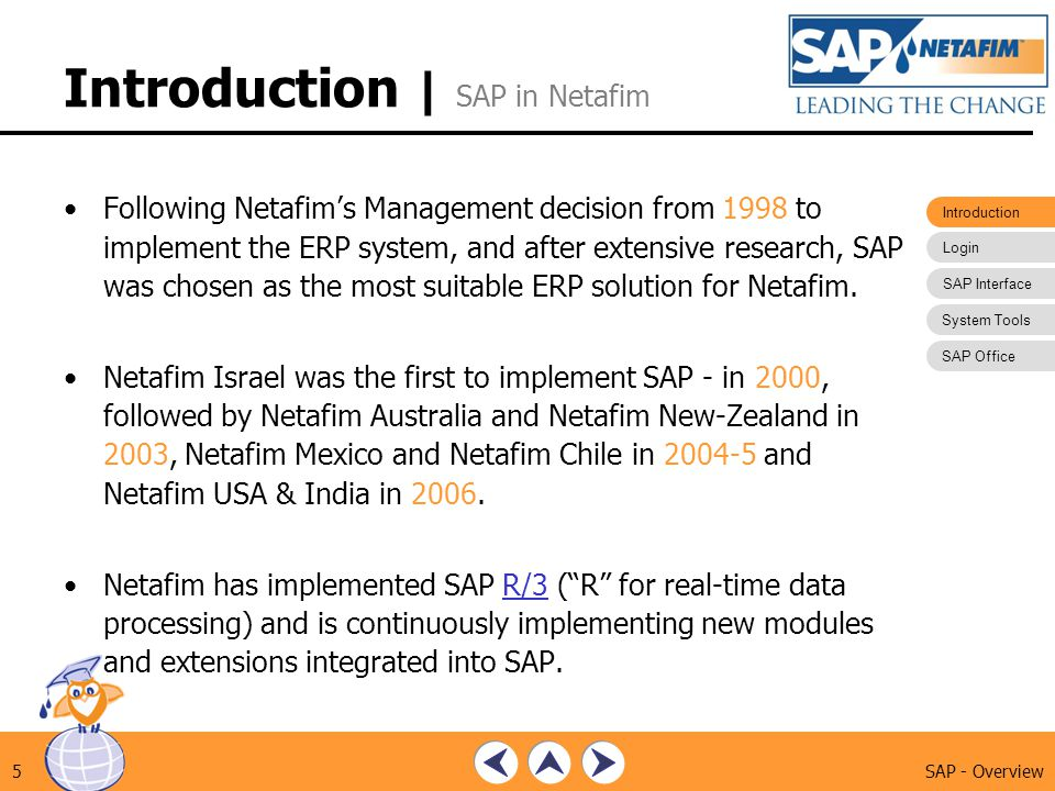Introduction | SAP in Netafim