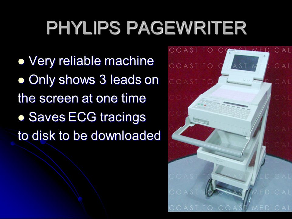 PHYLIPS PAGEWRITER Very reliable machine Only shows 3 leads on