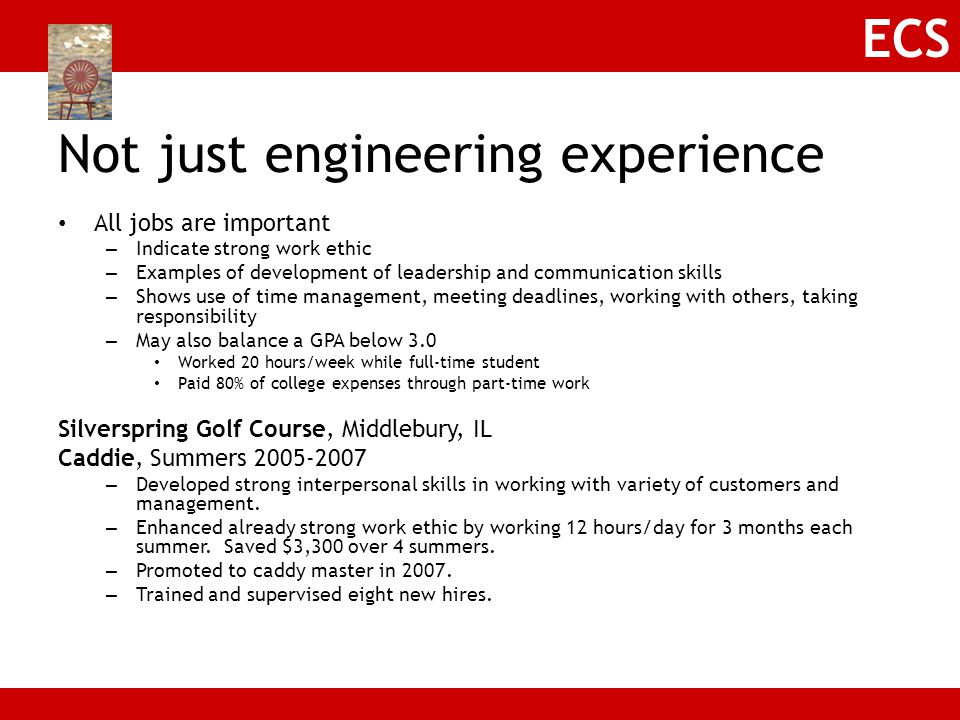 Not just engineering experience