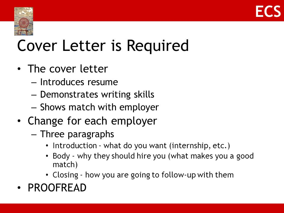Cover Letter is Required