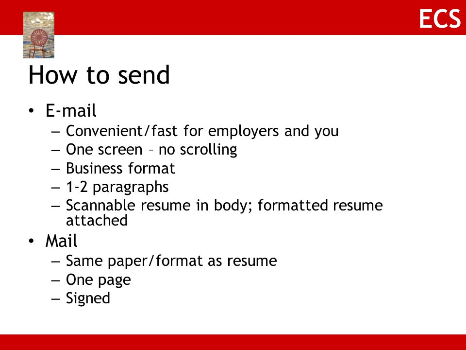 How to send E-mail Mail Convenient/fast for employers and you