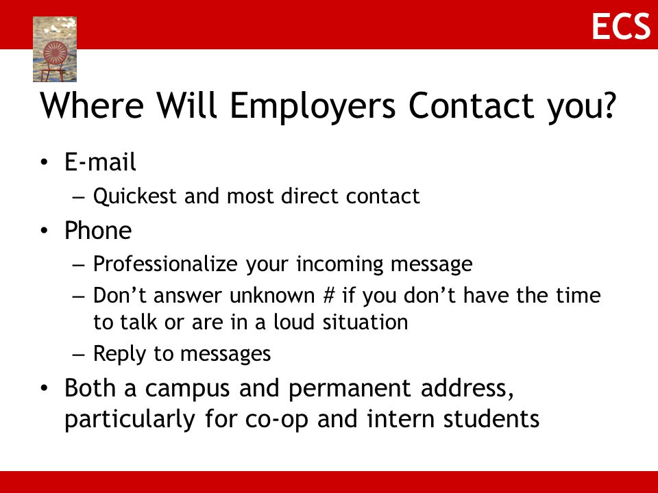 Where Will Employers Contact you