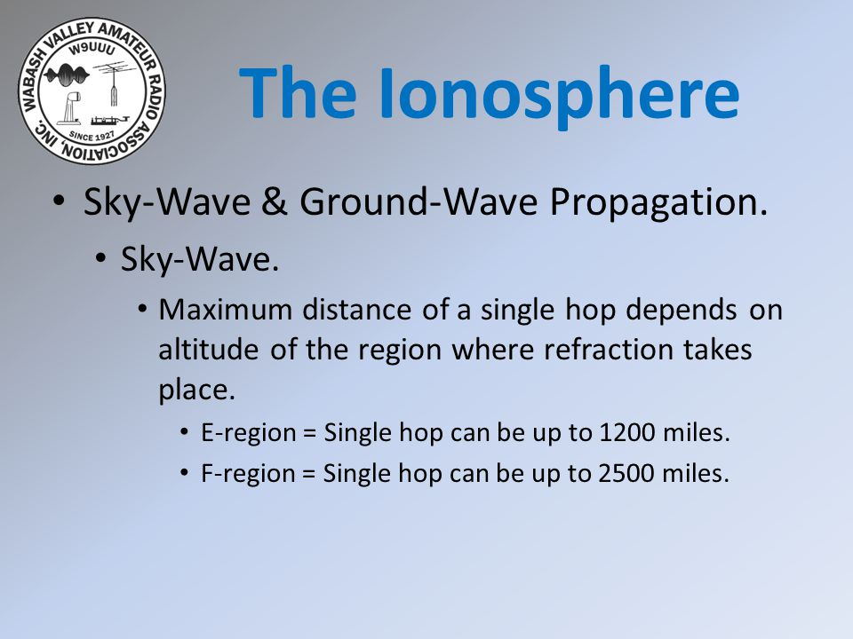 The Ionosphere Sky-Wave & Ground-Wave Propagation. Sky-Wave.