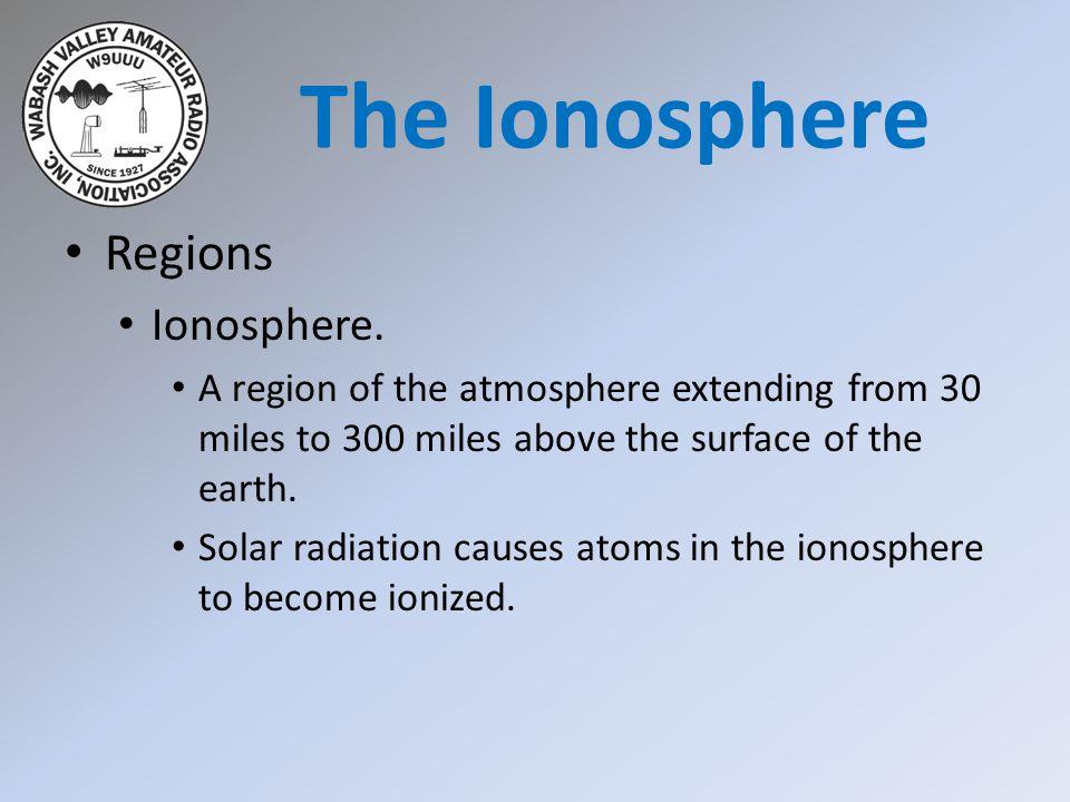 The Ionosphere Regions Ionosphere.