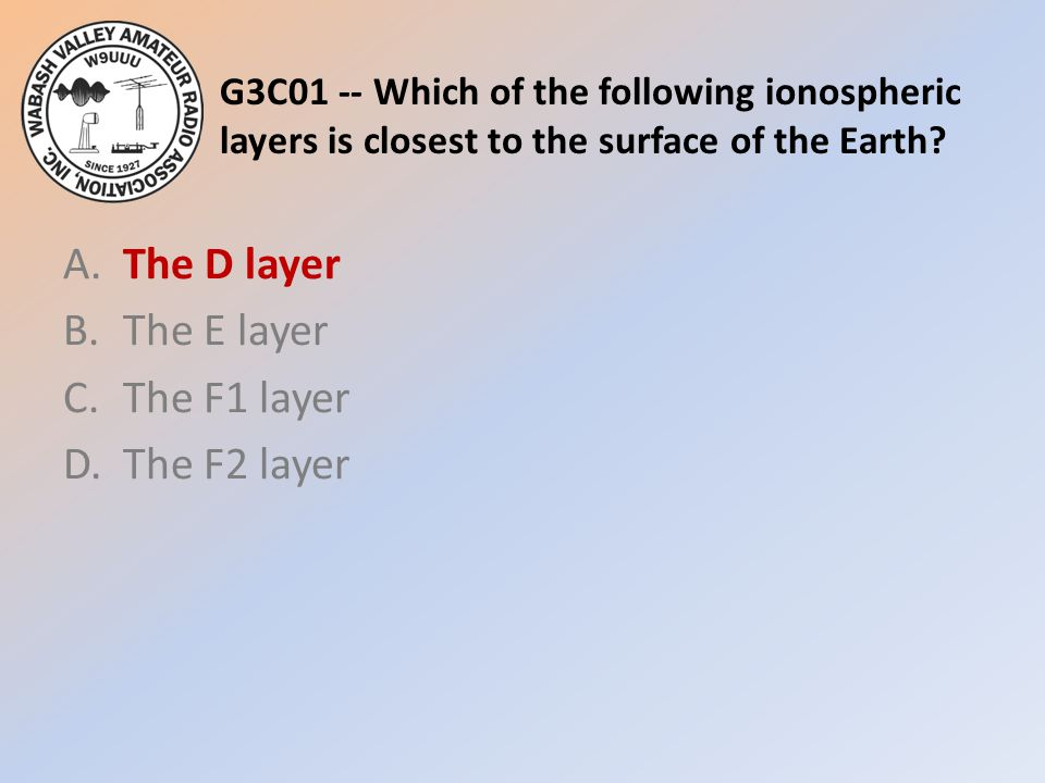A. The D layer B. The E layer C. The F1 layer D. The F2 layer