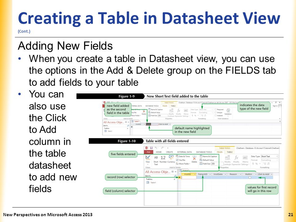 Access tutorial 1 creating a database ppt video online for Table design view access