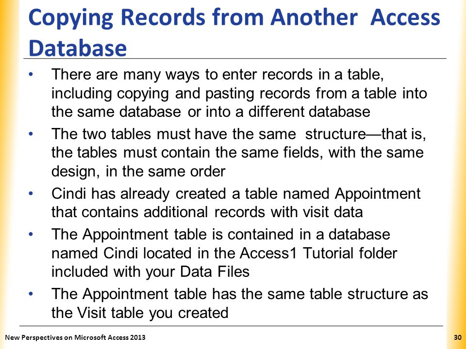 Copying Records from Another Access Database