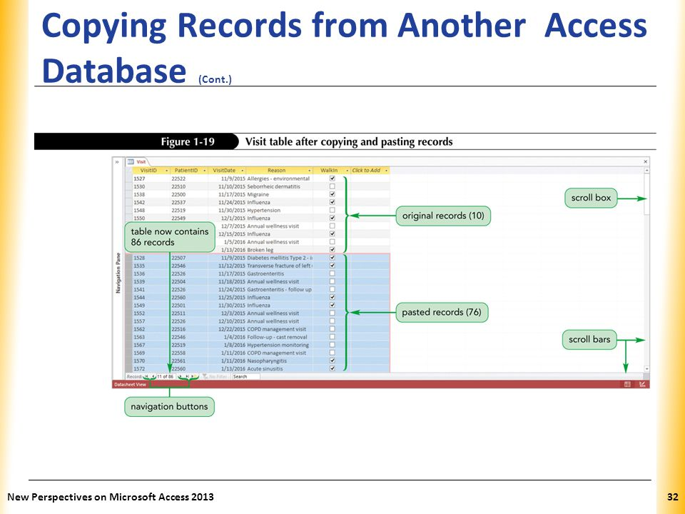 Copying Records from Another Access Database (Cont.)