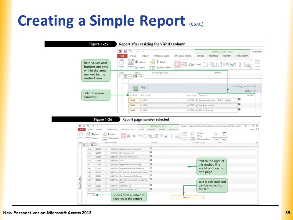 Creating a Simple Report (Cont.)
