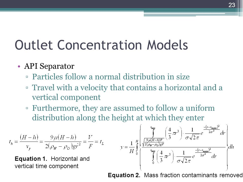 Outlet Concentration Models