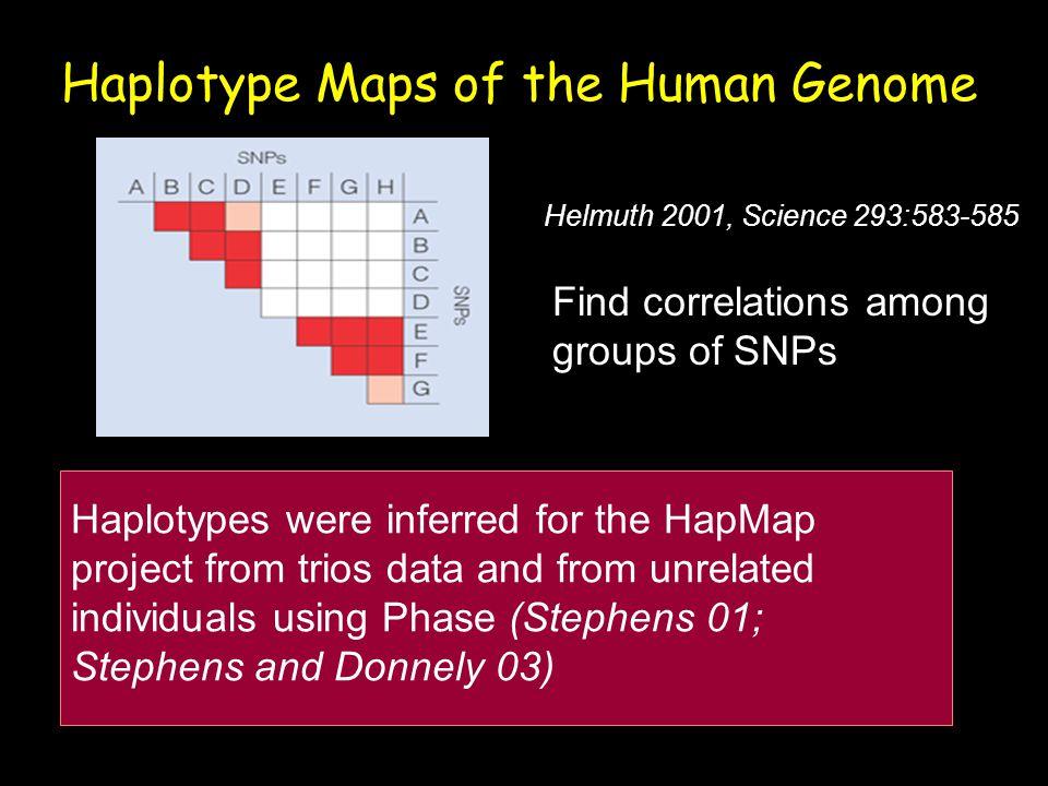 Haplotype Maps of the Human Genome