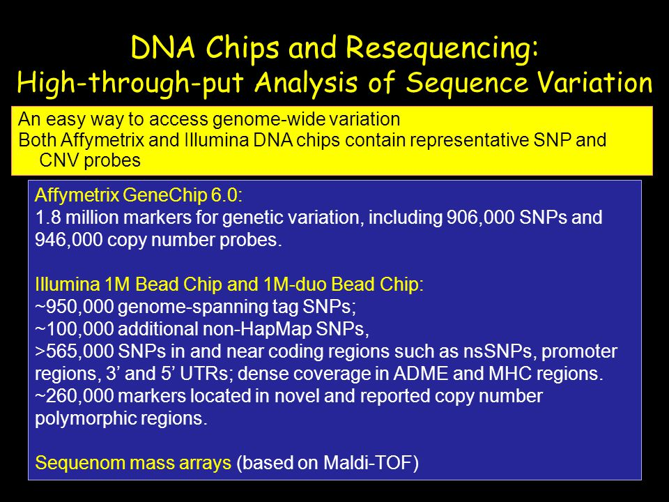 DNA Chips and Resequencing: