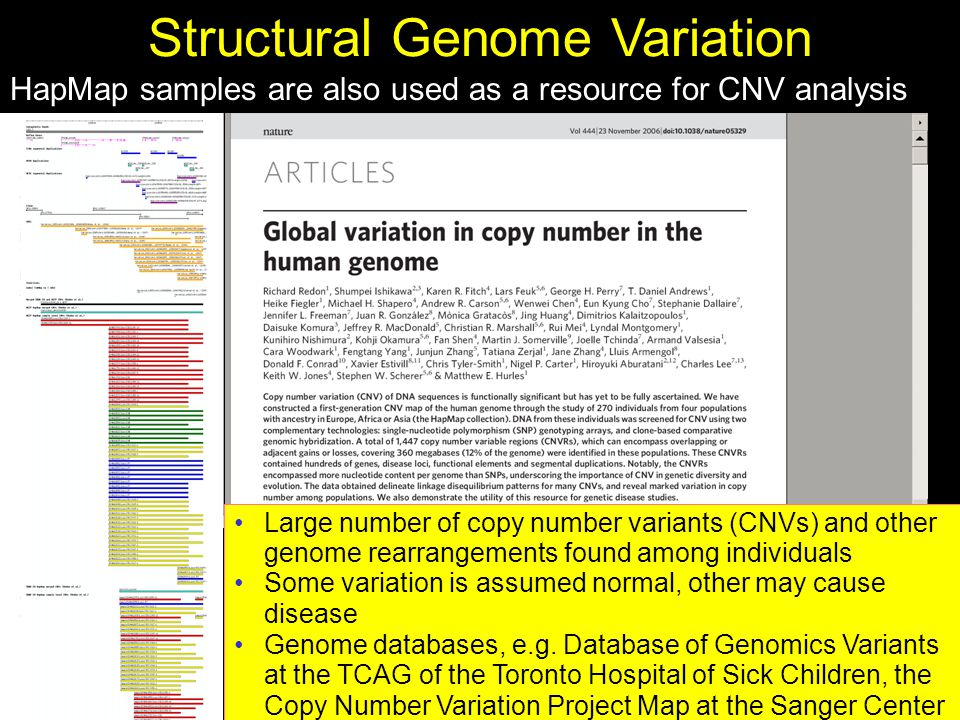 Structural Genome Variation