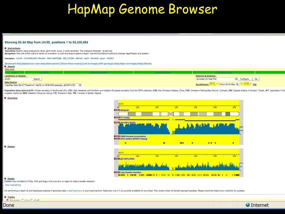 HapMap Genome Browser Julia Krushkal 4/11/2017