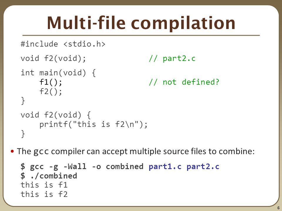 Multi-file compilation