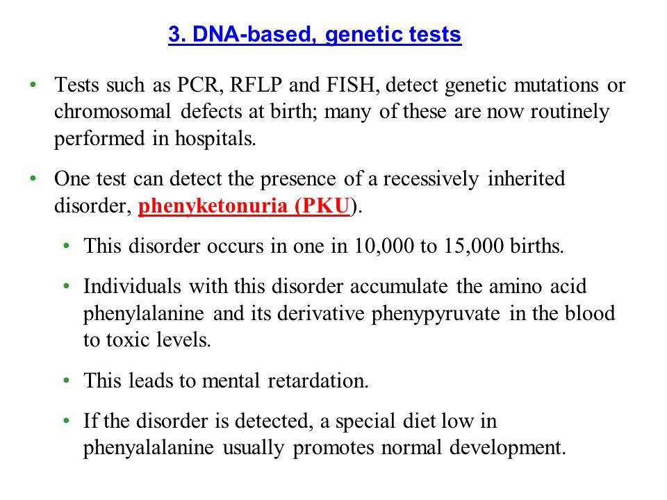 3. DNA-based, genetic tests